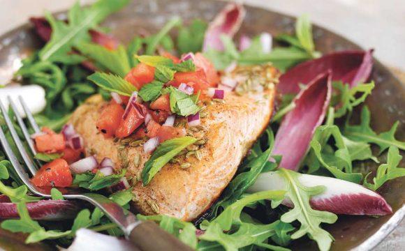 Alaska Salmon and Watermelon Salad