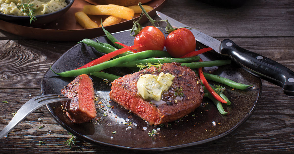 Vivera steak serving