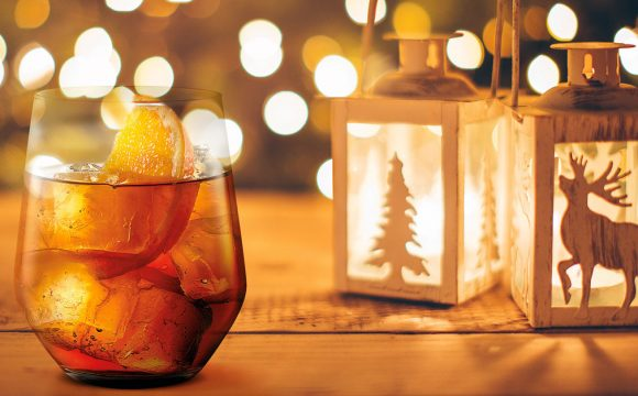 Christmas in a glass